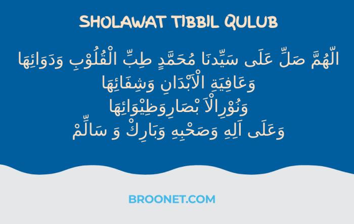 lirik sholawat tibbil qulub