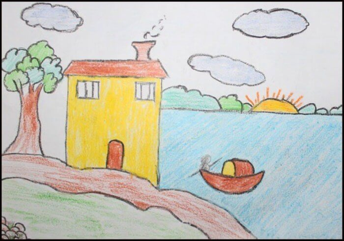 25 Contoh Gambar Pemandangan Rumah Referensi Menggambar