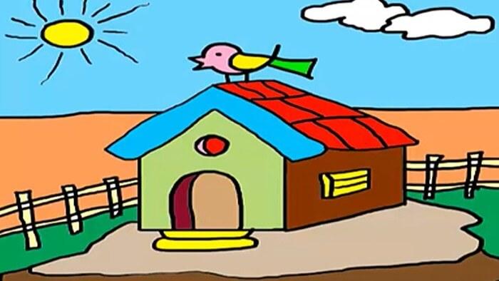 gambar pemandangan rumah