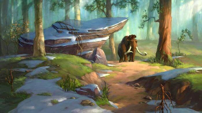 gambar pemandangan alam kartun berwarna