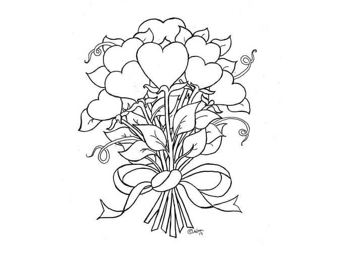 18 Contoh Mewarnai Gambar Bunga Dari Beragam Jenis Yang Cantik