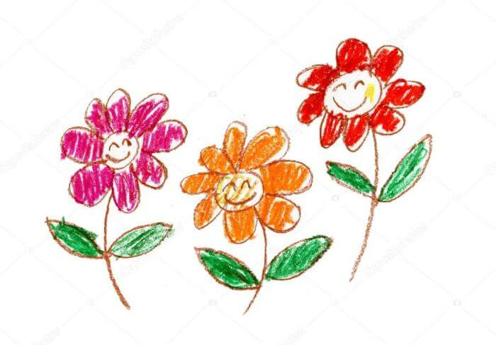 Cara menggambar gambar bunga
