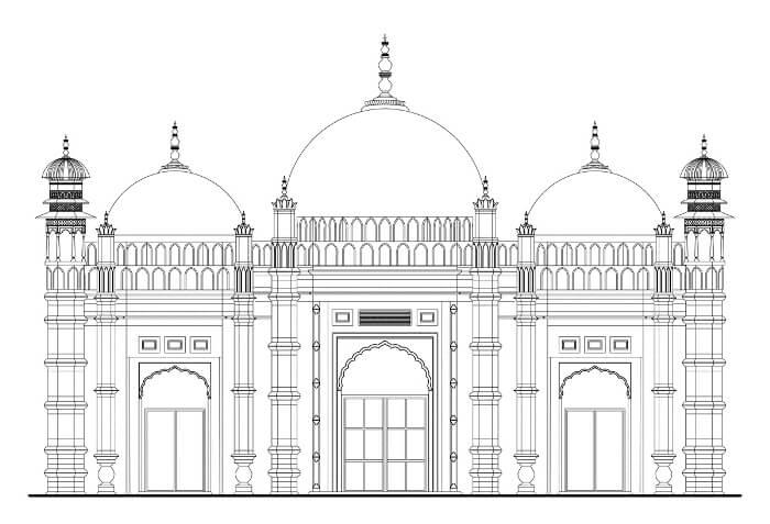 gambar merwarnai masjid