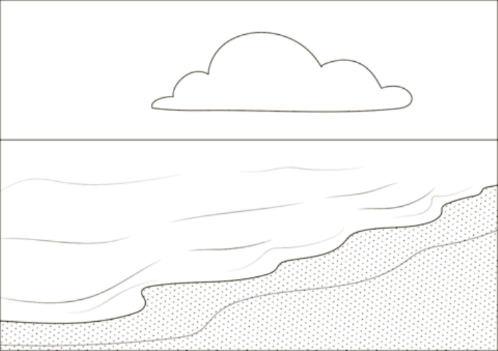 mewarnai gambar pemandangan laut