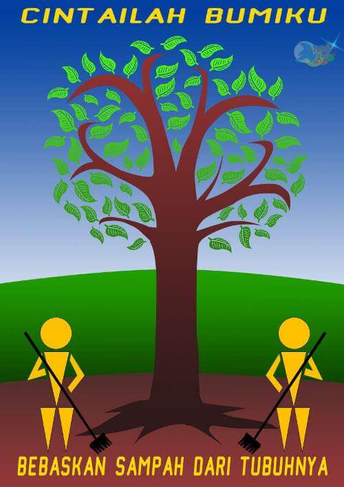 Poster Lingkungan sekolah
