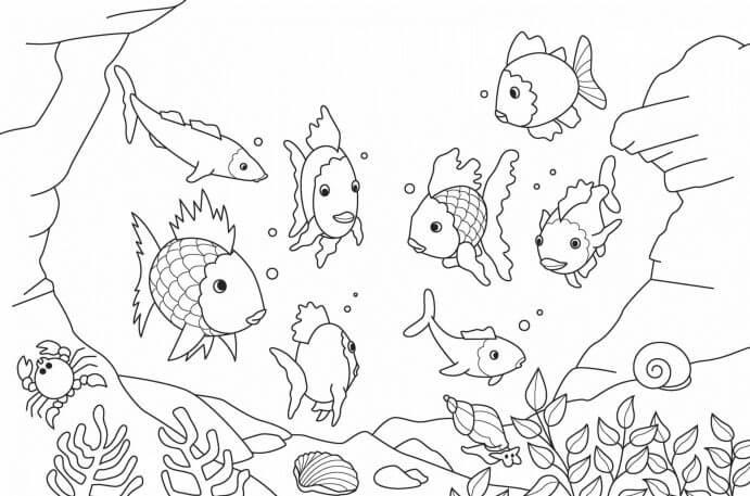 mewarnai gambar bawah laut
