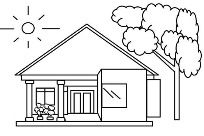 18 contoh mewarnai gambar rumah beragam desain broonet