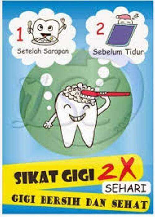 contoh poster kesehatan gigi