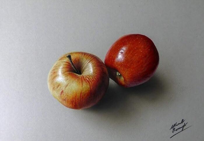 contoh gambar 3 dimensi buah