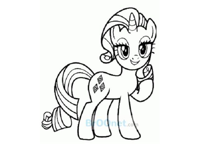 mewarnai kuda poni