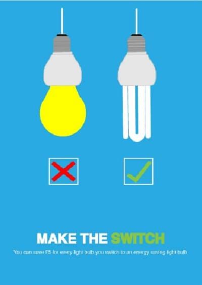 gambar poster hemat energi