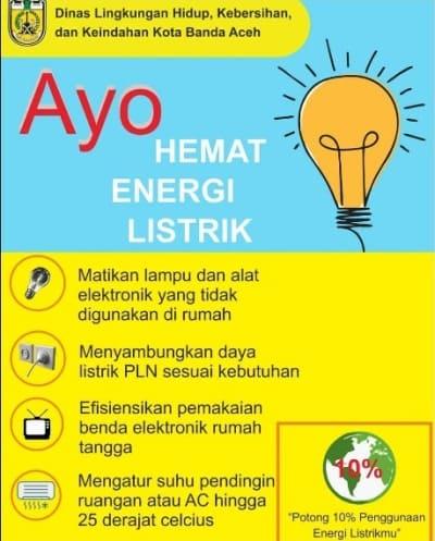 poster hemat listrik