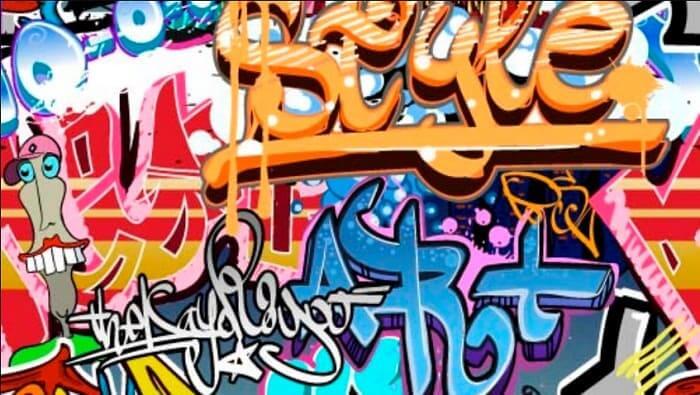 gambar grafiti huruf