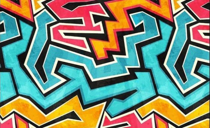 contoh gambar grafiti abstrak