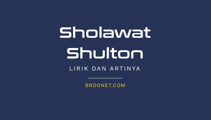 lirik sholawat sulthon