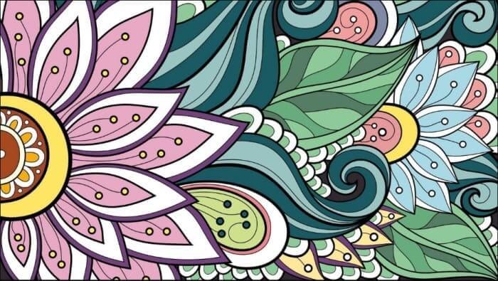gambar dekoratif bunga