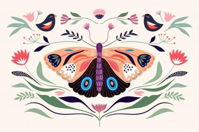 gambar dekoratif kupu kupu