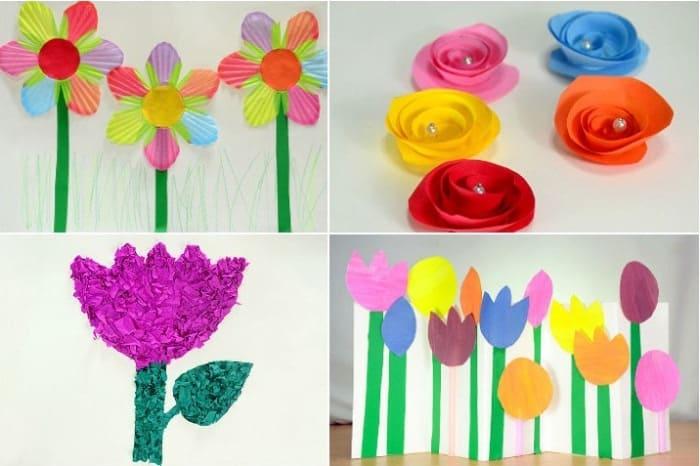 contoh gambar kolase bunga