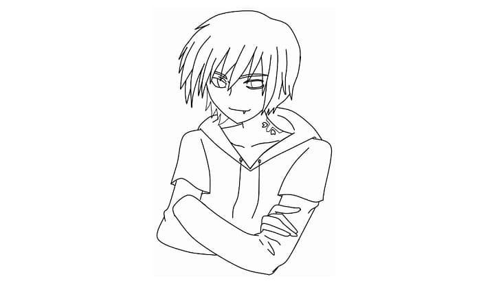 sketsa anime