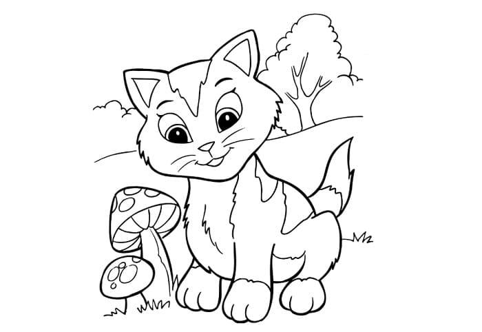 11 Contoh Sketsa Kucing Yang Mudah Dan Simple Broonet